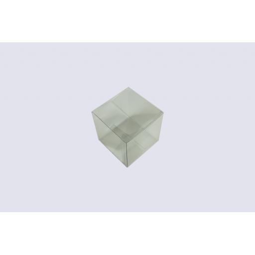 Flat Folding Clear PVC Box 100x100x100mm