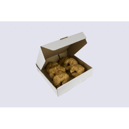 10 Inch Corrugated Cake Box - 2 1/2 Inches Tall