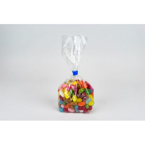 Clear Cellophane Gusseted Bags 76 x 125 x 229mm
