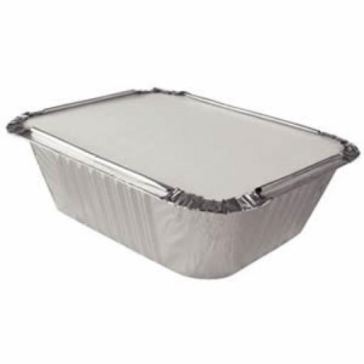 Foil Containers + Lid 140x115x40mm