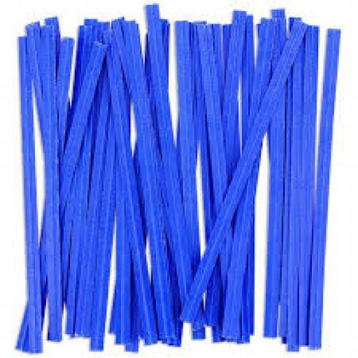 Blue Wire Twist Ties - 90mm (500)