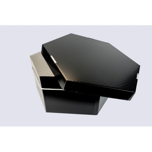 """Hat Box Plain Black 29 x 12"""" (736 x 304 mm)"""