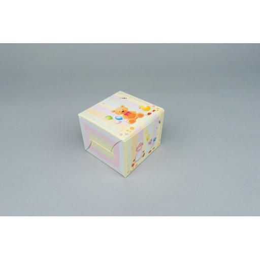 Baby Toy Print Muffin/Gift Box 80 x 80 x 60 mm