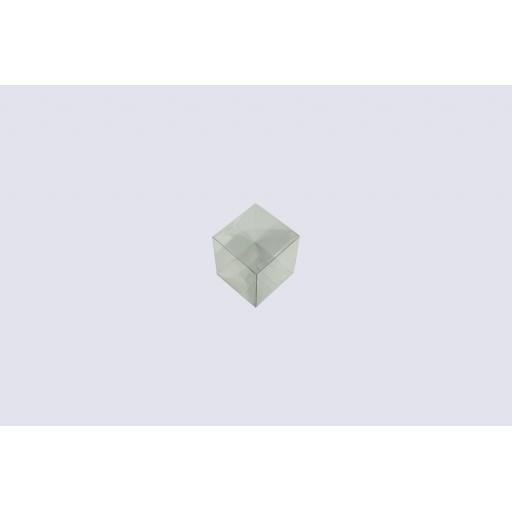 Flat Folding Clear PVC Box 50x50x80mm