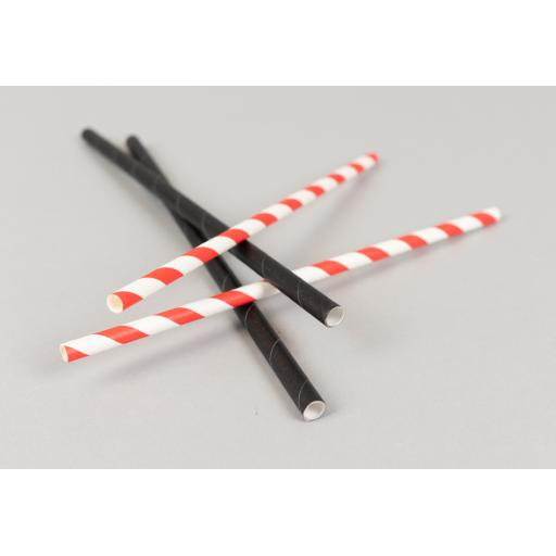 Black Paper Drinking Straws