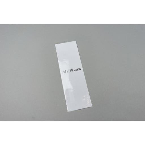 Clear Polyprop Bags 66x205mm