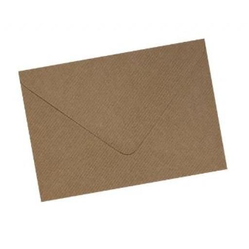 Ribbed Kraft Envelope 114x162mm