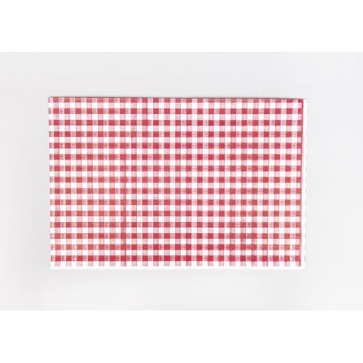Gingham Butchers Sheets Red 250 x 380 mm