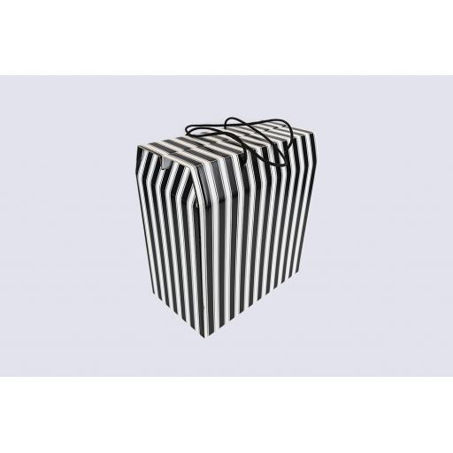Cord Carry-Handle Box 350 x 190 x 375mm Black and White
