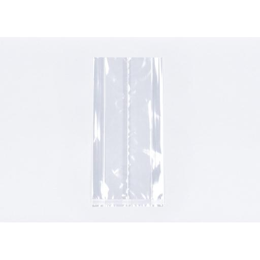 Clear Cellophane Gusseted Bags 152 x 202 x 305mm