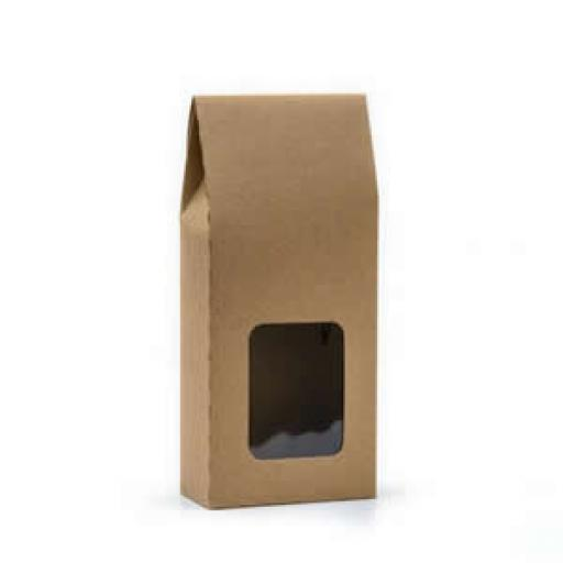 Kraft Box with Window 80x44x120mm