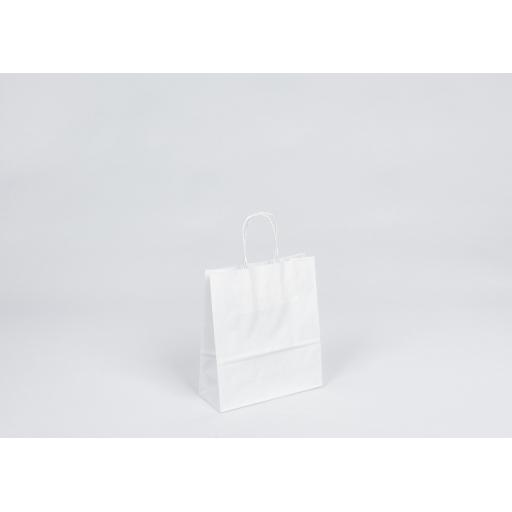 White Carrier + Twisted Handle 180x220+80mm