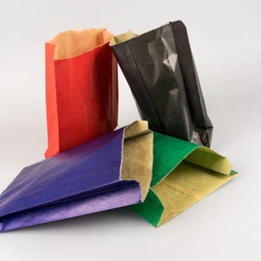 Coloured Paper Satchel Bags