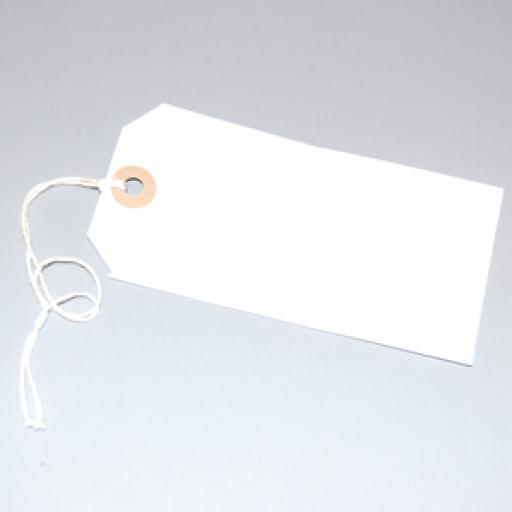 White Tag with Hole & String 120 x 60mm