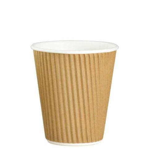 Plain Brown Ripple Cup 12oz