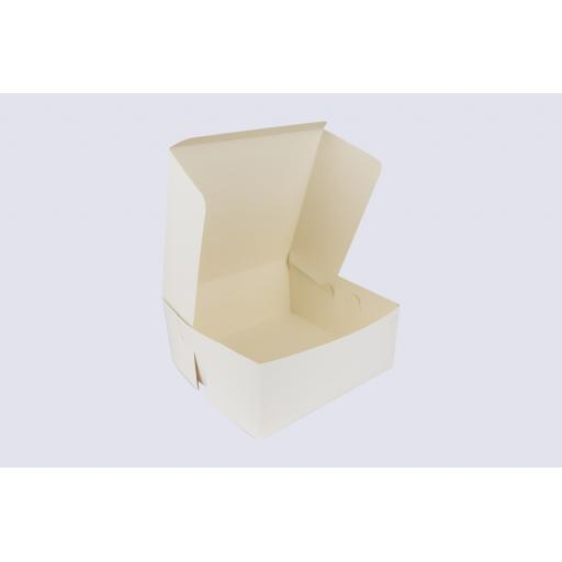 9 Inch Cake Box with Hinged Lid - 4 Inches Tall