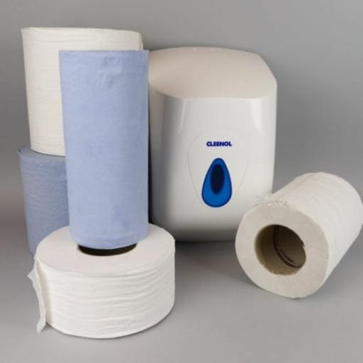 Centre Feed, Wiper Rolls and Dispensers