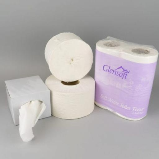 Tissues, Toilet Paper and Rolls