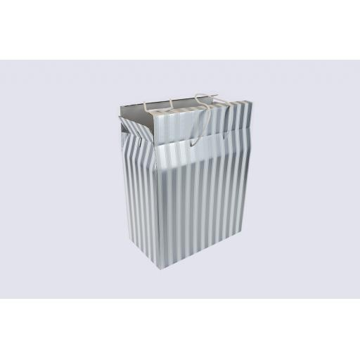 Cord Carry-Handle Box 400 x 195 x 500mm Silver and White