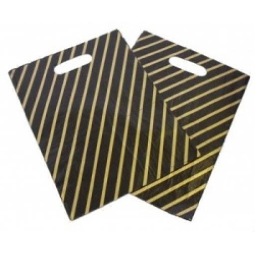 Black & Gold Carrier Bag 224x279mm