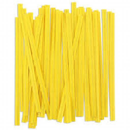 Yellow Wire Twist Ties - 90mm (500)