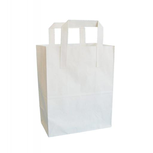 White Carrier with Flat Handle 178x220+91mm