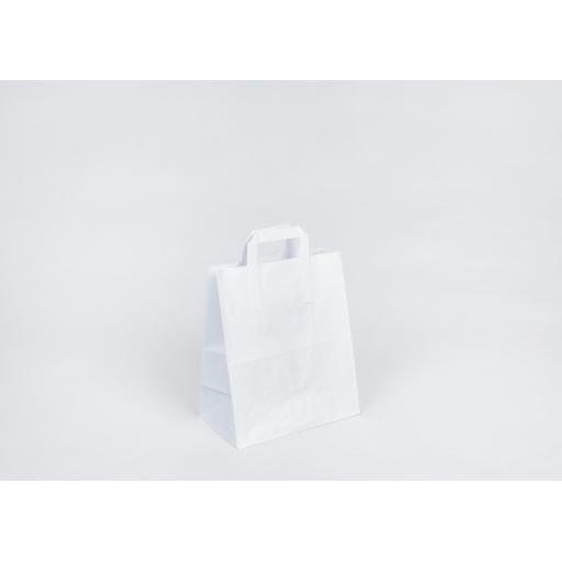 White Carrier With Flat Handle 260x300x125mm