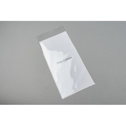 Clear Polyprop Bags 114x222+26mm