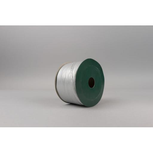 Silver Raffia Ribbon 100M