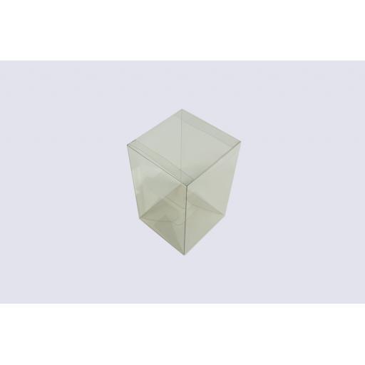 Flat Folding Clear PVC Box 100x100x160mm