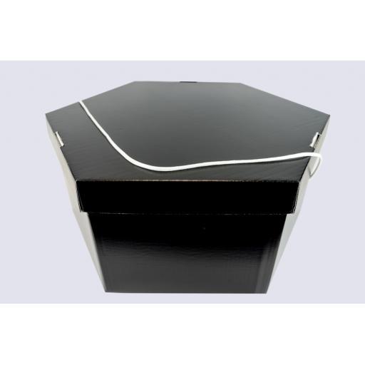 """Hat Box 20 x 9 1/2"""" (495 x 241 mm) Black"""
