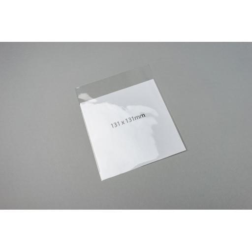 Clear Polypropylene Bags 131 x 131 + 25 mm