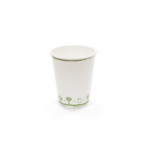 8oz Compostable Single Wall Paper Cup
