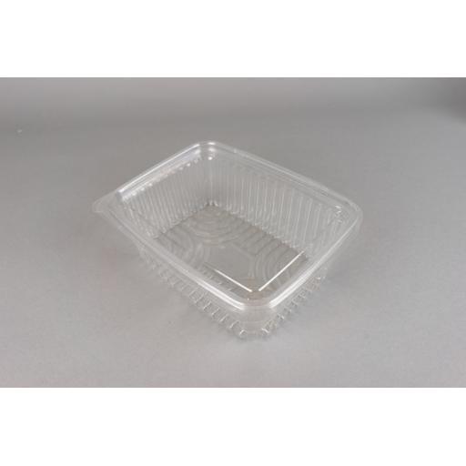 Clear Salad Pots Hinged Lids 164x117x55mm