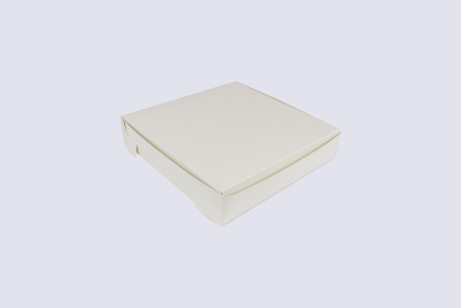 7 Inch Cake Box with Hinged Lid - 1 1/2 Inches Tall