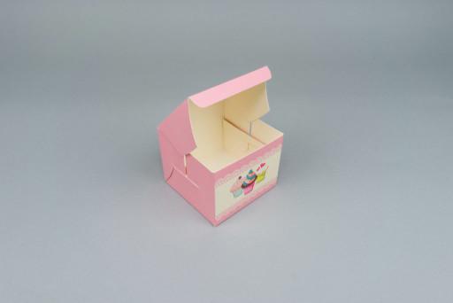 Pink Muffin Box 80 x 80 x 60 mm
