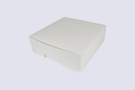 12 Inch Cake Box with Hinged Lid - 4 Inches Tall