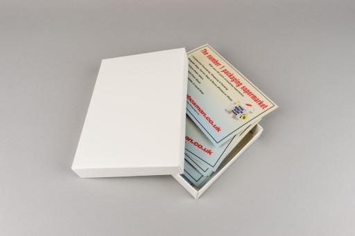 A6 White Box & Lid 164x116x23mm