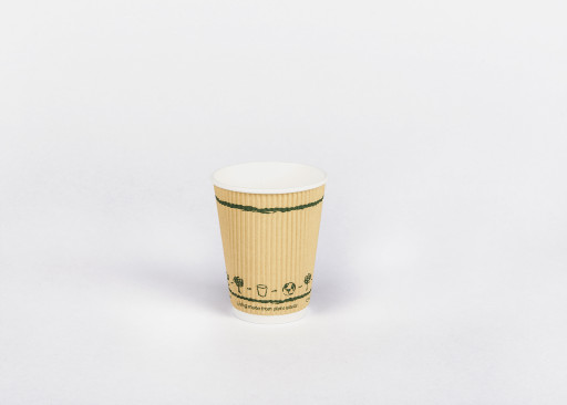 12oz Compostable Triple Wall Ripple Paper Cup