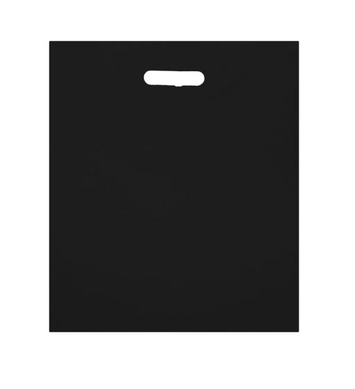 Black Polythene Carrier 381x457+76mm