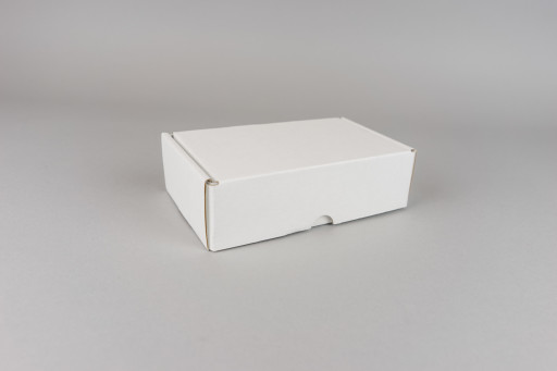 White Corrugated Box - 102 x 102 x 68mm