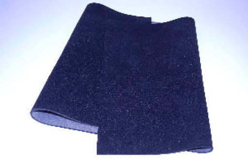 Black Flock Faced Foam Sheets 510x1020mm
