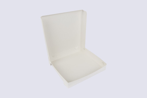9 Inch Cake Box with Hinged Lid - 1 1/2 Inches Tall