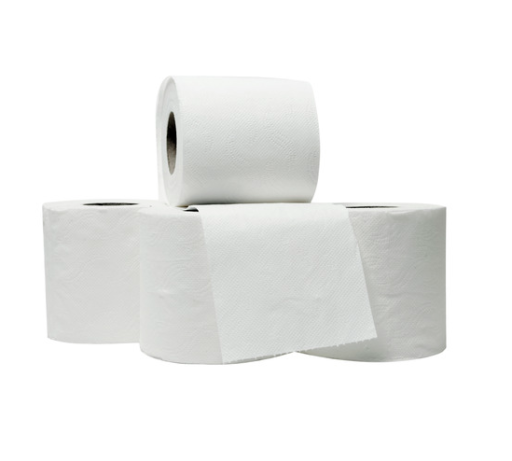 2 Ply Toilet Rolls - Pack of 4 Rolls