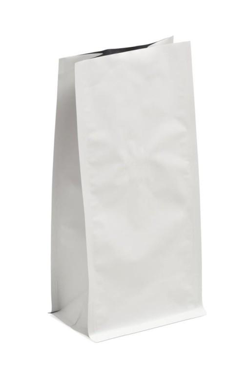 Block Bottom Paper Bags - White 110 x 170 x 215mm